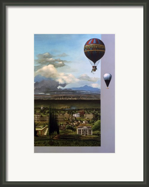 200 Years Of Ballooning Framed Print By Jane Whiting Chrzanoska