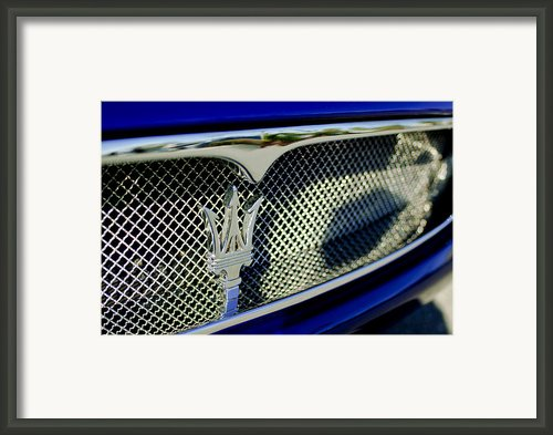 2002 Maserati Hood Ornament Framed Print By Jill Reger
