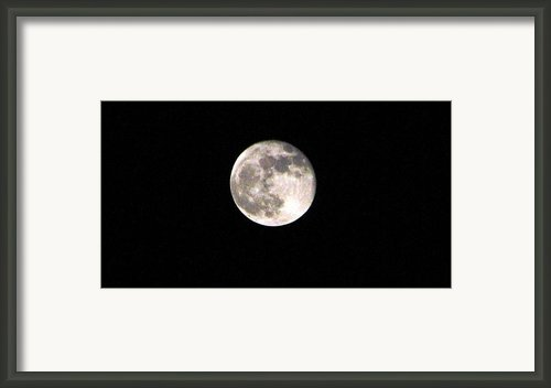 2012 Super Moon Framed Print By Judyann Matthews