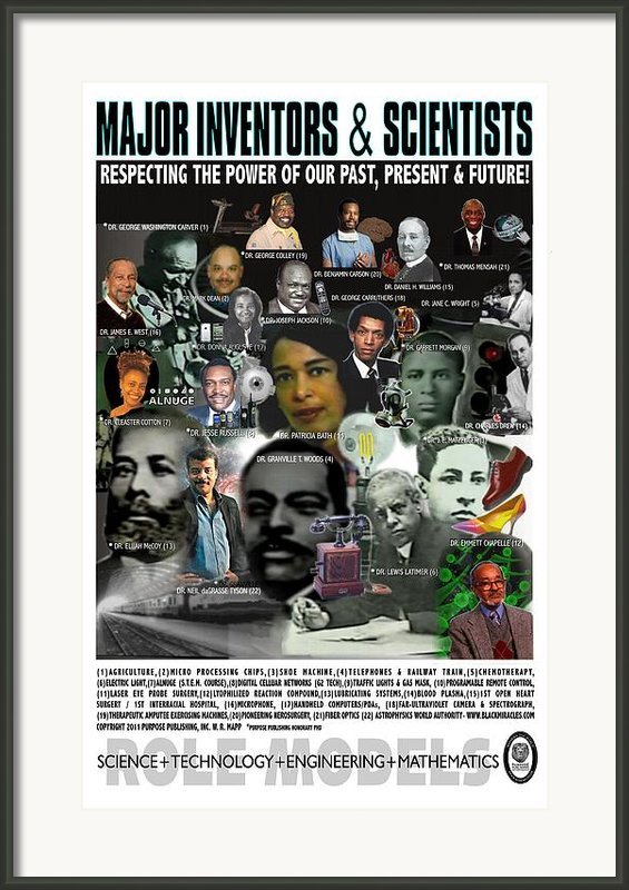 Major Inventors And Scientists Framed Print By Purpose Publishing