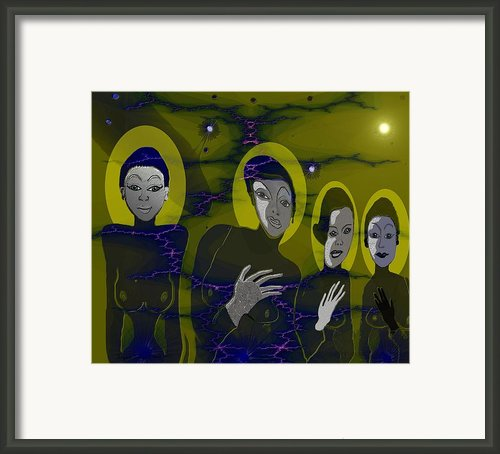 263 - Friendly Neighbours Framed Print By Irmgard Schoendorf Welch