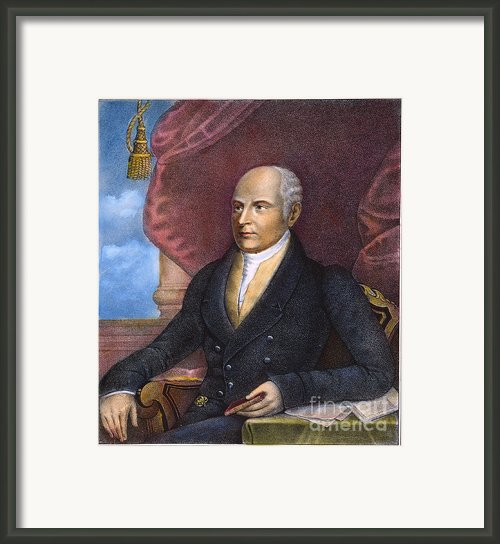 John Quincy Adams Framed Print By Granger