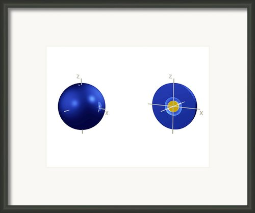 2s Electron Orbital Framed Print By Dr Mark J. Winter