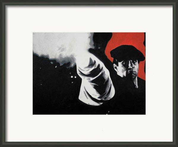 - The Godfather - Framed Print By Luis Ludzska