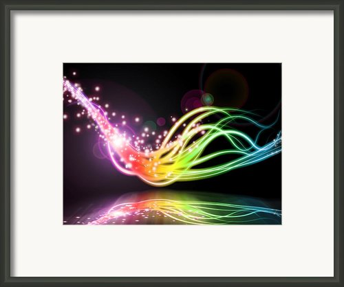 Abstract Lighting Effect  Framed Print By Setsiri Silapasuwanchai