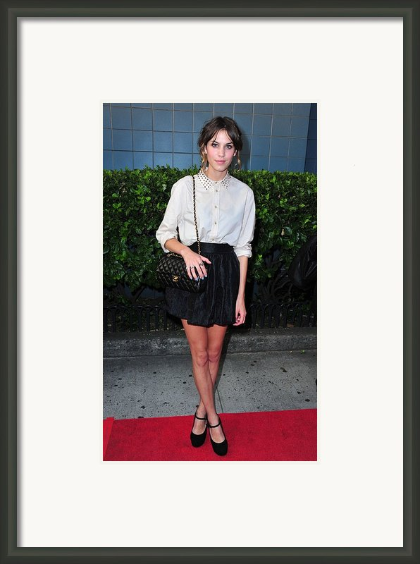 Alexa Chung Wearing A 3.1 Phillip Lim Framed Print By Everett