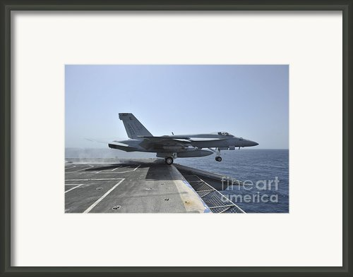 An Fa-18e Super Hornet Launches Framed Print By Stocktrek Images