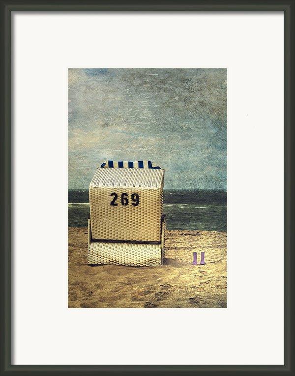 Beach Chair Framed Print By Joana Kruse