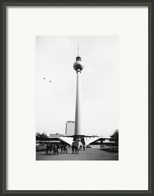 Berlin Tv Tower Framed Print By Falko Follert