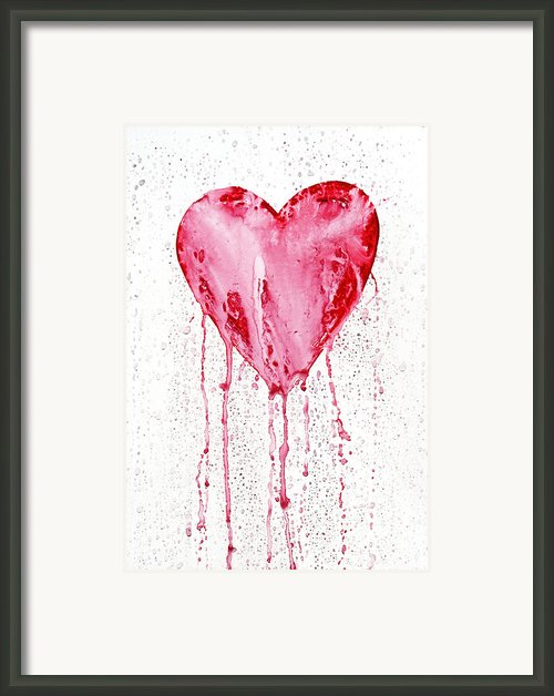 Bleeding Heart Framed Print By Michal Boubin