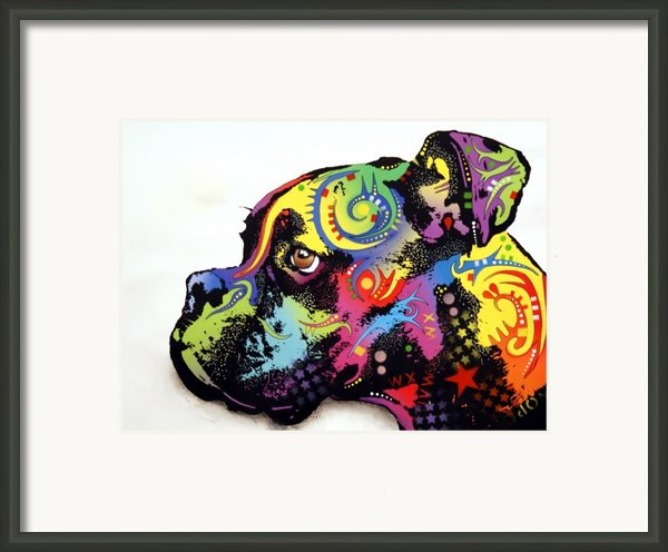 Boxer Framed Print By Dean Russo