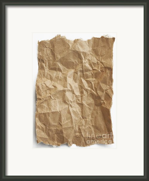 Brown Paper Framed Print By Blink Images