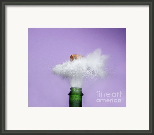 Champagne Cork Popping Framed Print By Ted Kinsman