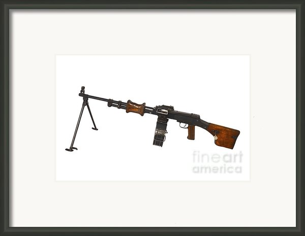 Chinese Type 56 Light Machine Gun Framed Print By Andrew Chittock