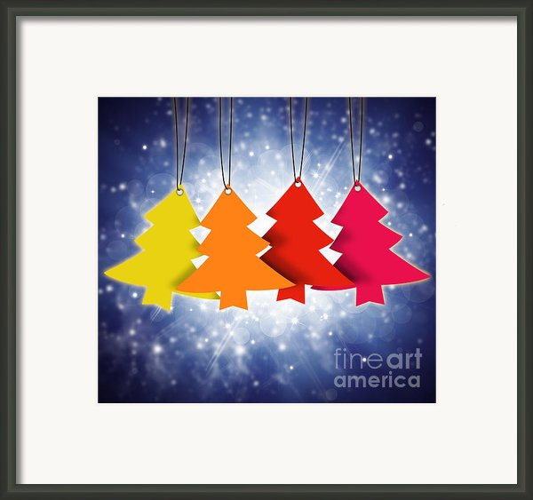 Christmas Card  Framed Print By Setsiri Silapasuwanchai