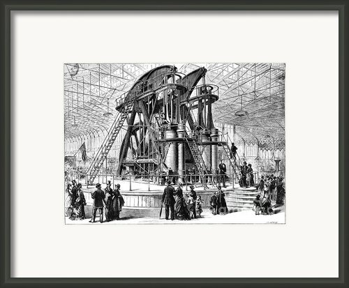 Corliss Steam Engine, 1876 Framed Print By Granger
