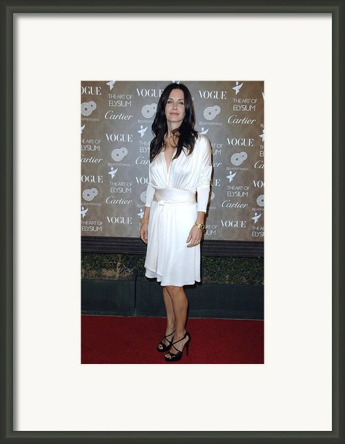 Courteney Cox Arquette At Arrivals Framed Print By Everett