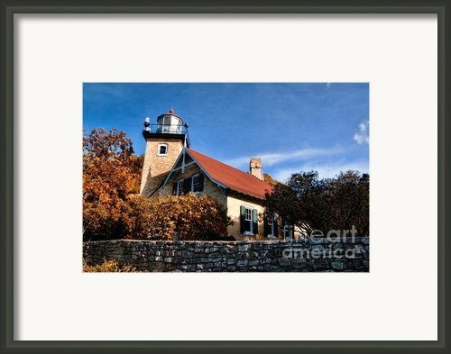 Eagle Bluff Lighthouse Framed Print By Joel Witmeyer