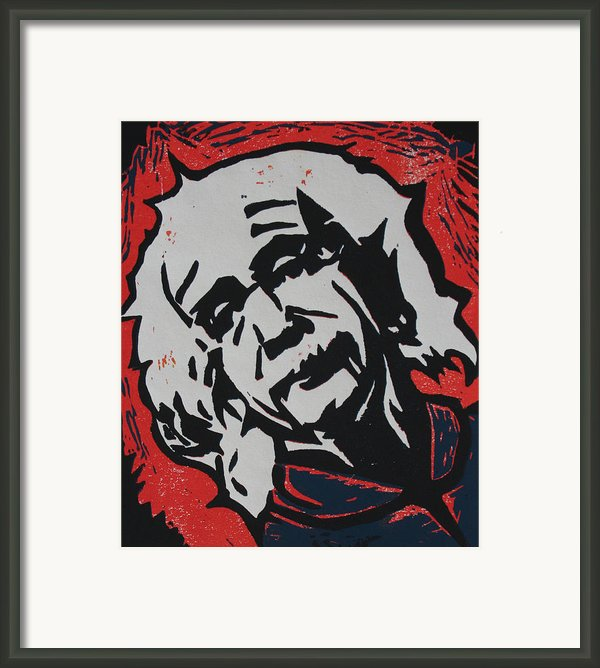 Einstein 2 Framed Print By William Cauthern