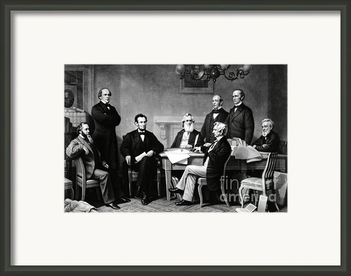 Emancipation Proclamation Framed Print By Photo Researchers