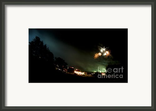 Fireworks Framed Print By Angel  Tarantella