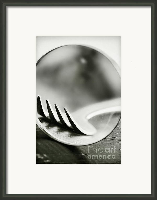 Fork Framed Print By Hd Connelly