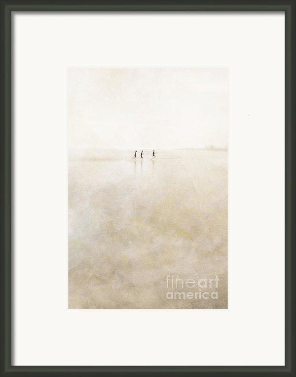 3 Girls Running Framed Print By Paul Grand