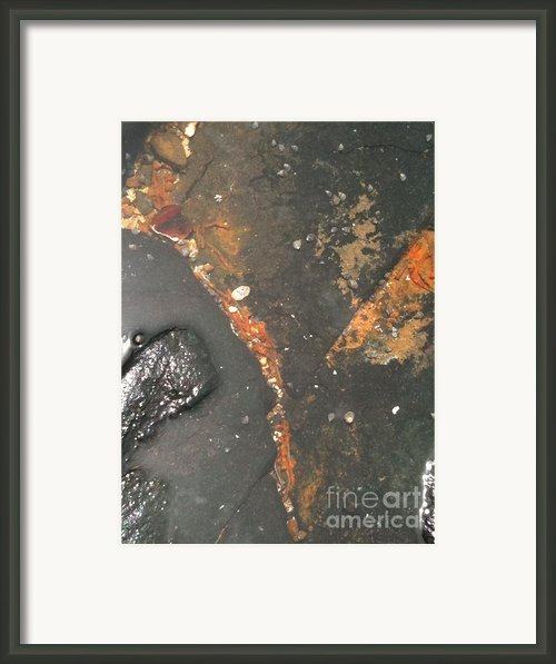 Goree Beach Texture Framed Print By Fania Simon