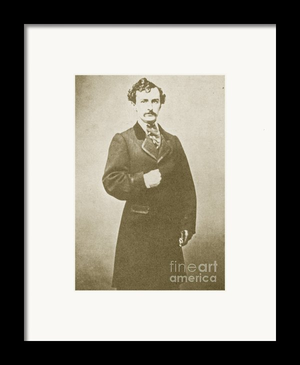 John Wilkes Booth, American Assassin Framed Print By Photo Researchers