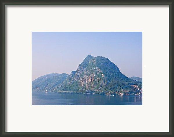 Lago Di Lugano Framed Print By Joana Kruse