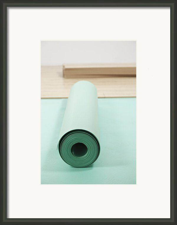 Laying A Floor. Rolls Of Underlay Or Framed Print By Magomed Magomedagaev