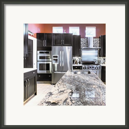 Modern Kitchen Interior Framed Print By Skip Nall