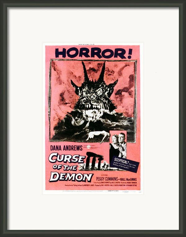 Night Of The Demon, Aka Curse Of The Framed Print By Everett