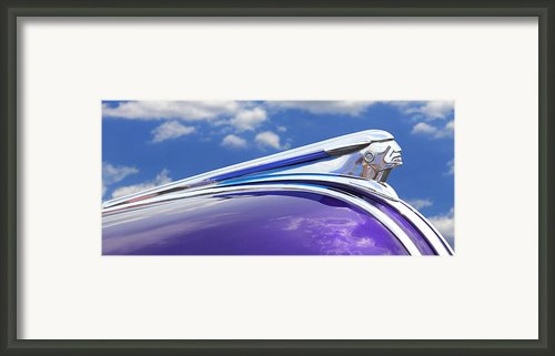 Pontiac Hood Ornament Framed Print By Mike Mcglothlen