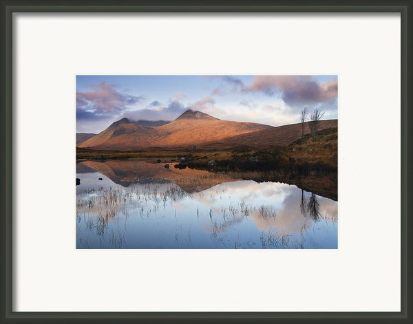 Rannoch Moor At Sunrise Framed Print By Gabor Pozsgai