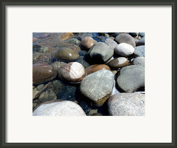 Sauble Pebbles Framed Print By Merv Scoble