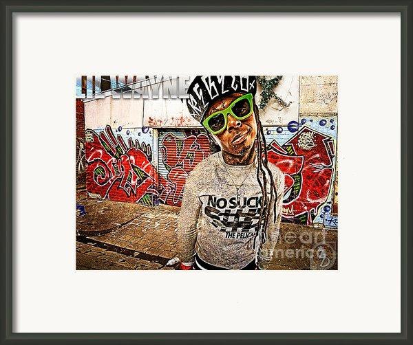 Street Phenomenon Lil Wayne Framed Print By The Digartist