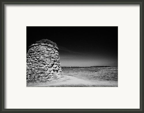 The Memorial Cairn On Culloden Moor Battlefield Site Highlands Scotland Framed Print By Joe Fox