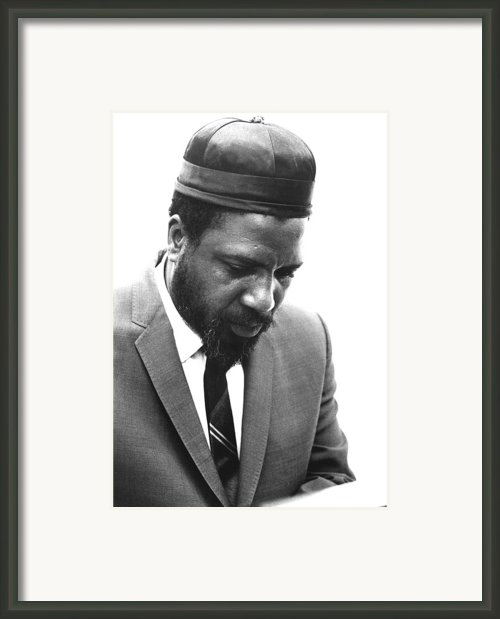 Thelonius Monk 1917-1982jazz Pianist Framed Print By Everett
