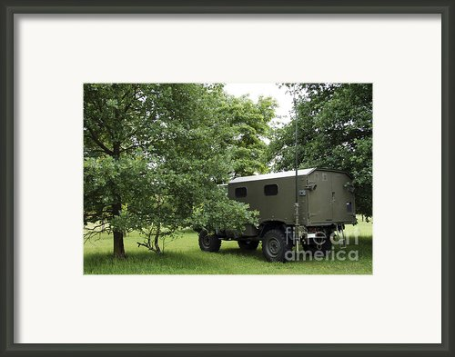 Unimog Truck Of The Belgian Army Framed Print By Luc De Jaeger