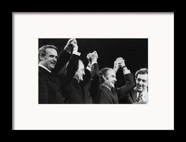 Us Elections. From Left Us Senator Framed Print By Everett