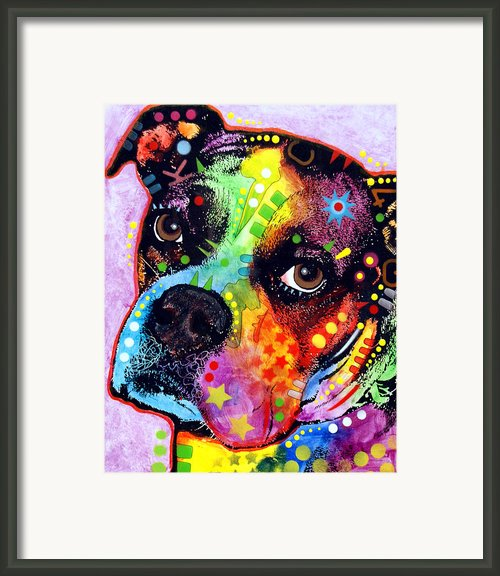 Young Boxer Framed Print By Dean Russo