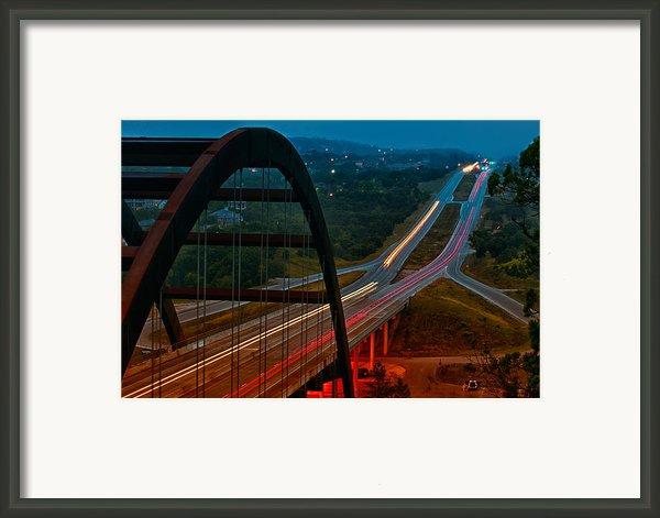 360 Bridge Morning Traffic Framed Print By Lisa  Spencer