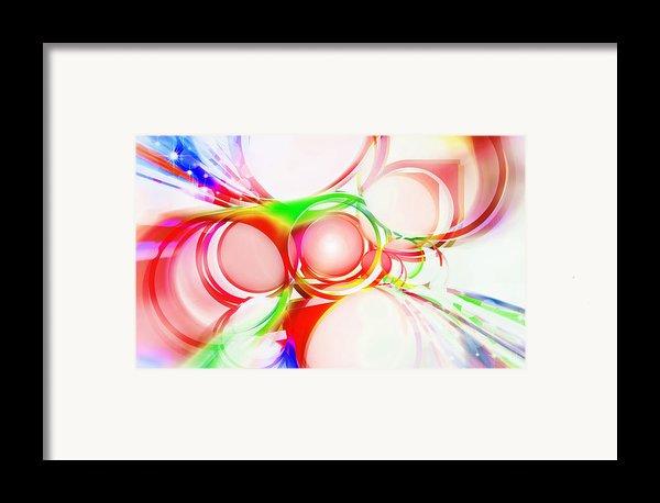 Abstract Of Circle  Framed Print By Setsiri Silapasuwanchai