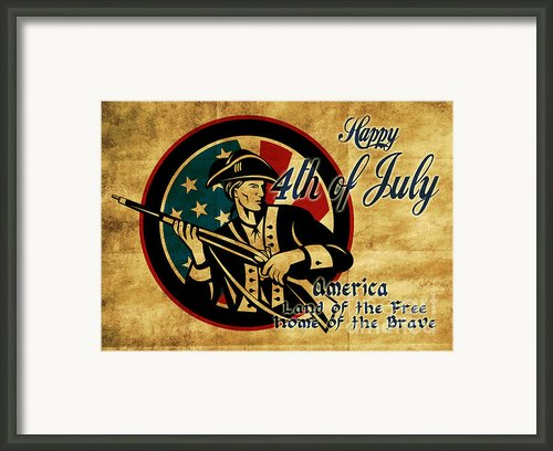 American Revolution Soldier General  Framed Print By Aloysius Patrimonio