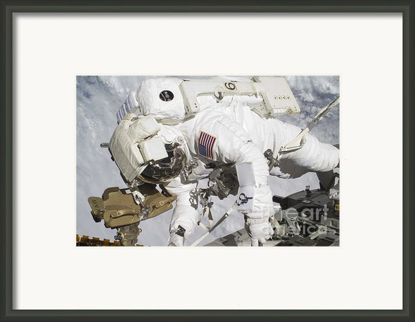 An Astronaut Participates In A Session Framed Print By Stocktrek Images