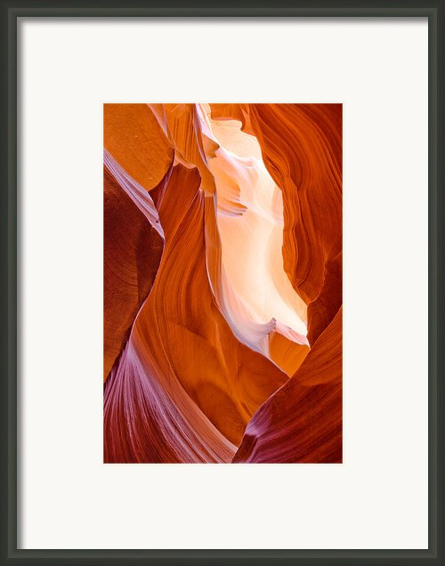 Antelope Canyon Framed Print By Carl Amoth