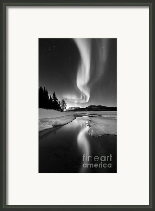 Aurora Borealis Over Sandvannet Lake Framed Print By Arild Heitmann