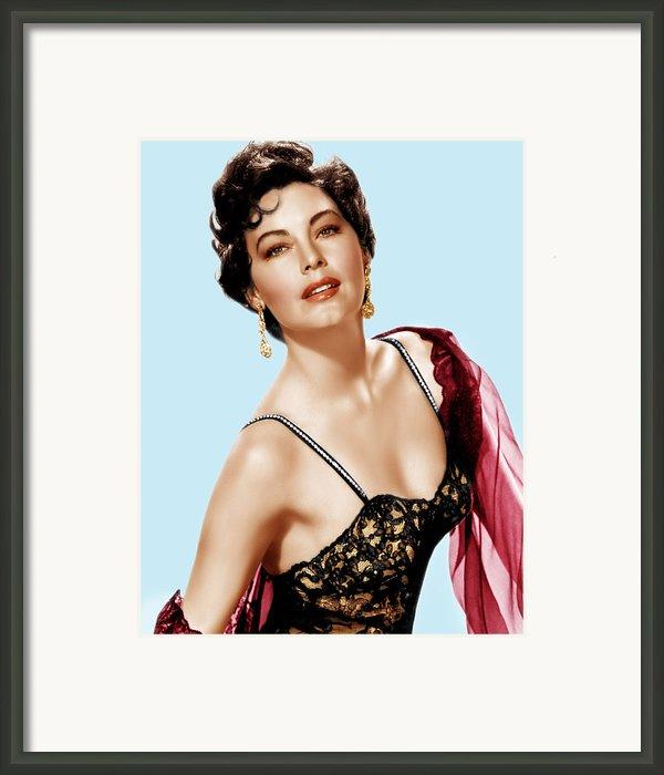 Ava Gardner, Ca. 1950s Framed Print By Everett
