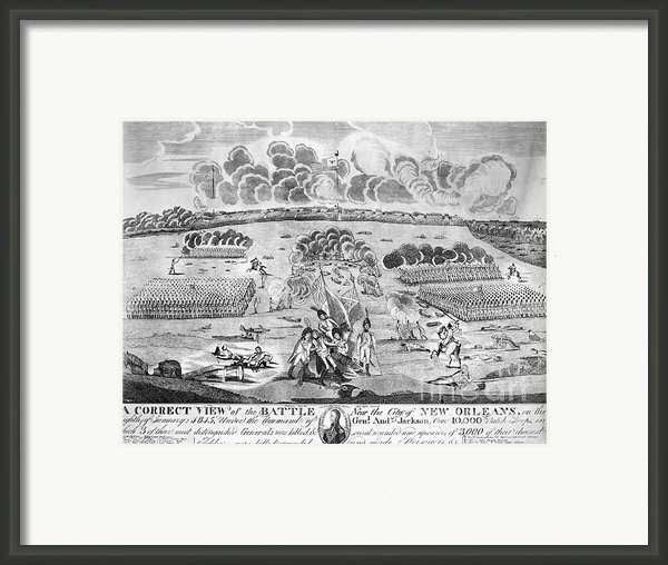 Battle Of New Orleans Framed Print By Granger